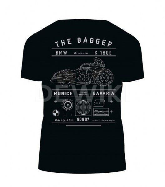Футболка унисекс BMW Motorrad Bagger, Black