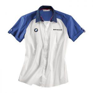Мужская рубашка BMW Motorrad Logo, White/Blue