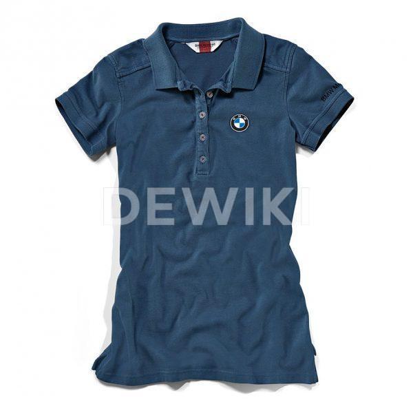 Женская рубашка-поло BMW Motorrad Logo Classic, Blue