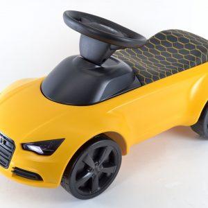 Детский автомобиль желтый Audi quattro