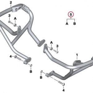 Детали крепления защиты двигателя BMW R 1200 R / RS 2014-2019 год