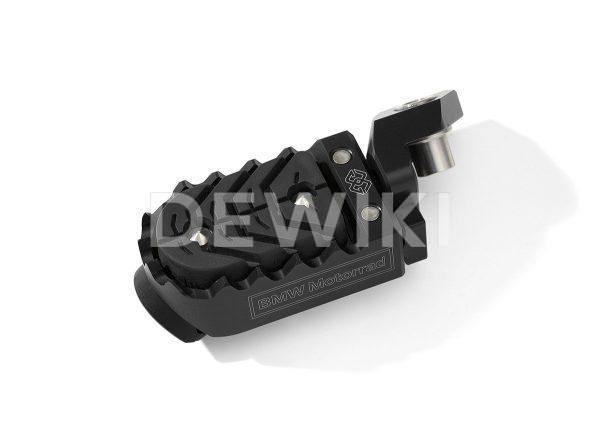 Регулируемая подножка водителя BMW R 1200 / 1250 / F 750 / 850 / GS / Adventure, черная, левая