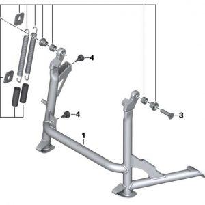 Детали крепления для центральной подножки BMW S 1000 XR
