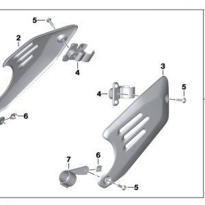 Алюминиевая заглушка треугольной части рамы с ручной шлифовкой BMW R nineT, комплект