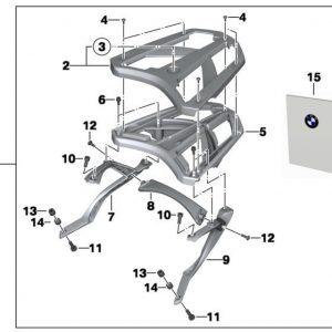 Облицовка багажной площадки BMW C Evolution, левая