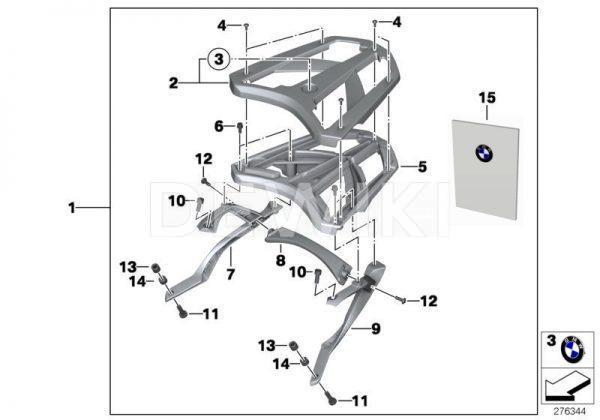 Облицовка багажной площадки BMW C evolution, правая