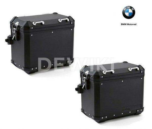 Алюминиевый кофр черный BMW R 1200 / 1250 / F 850 / GS / Adventure, левый, 44 литра