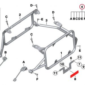 Набор для крепления алюминиевых кофров BMW R 1200 GS / Adventure 2013-2020 год