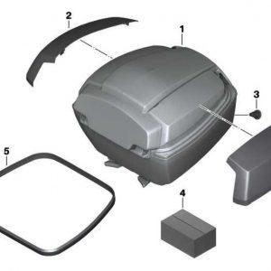 Облицовка крышки кофра BMW C evolution, Ionic Silver Metallic, левая