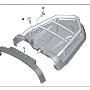 Багажная полка BMW R nineT
