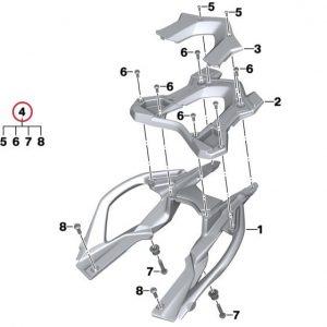 Крепление для багажной полки BMW R 1200 R / RS 2014-2019 год