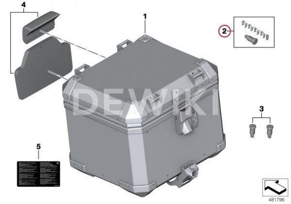 Ремонтный комплект для запорного цилиндра BMW F 750 / 850 GS / R 1200 / 1250 GS / Adventure 2013-2019 год