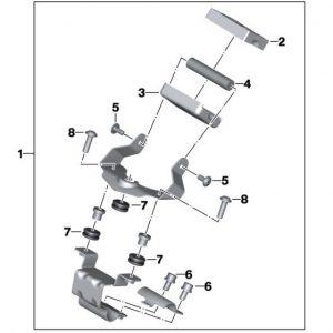 Кронштейн крепления навигатора BMW Motorrad C evolution 2013-2018 год