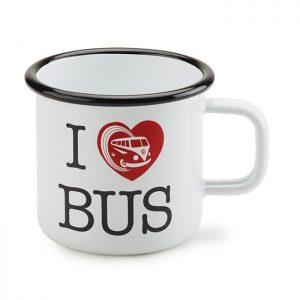 Металлическая кружка Volkswagen T1, I love Bus