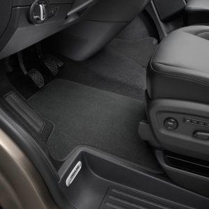 Коврики в салон Volkswagen Transporter (T5), текстильные Premium передние для водителя и пассажира, черные