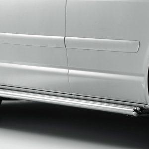 Боковые защитные трубы Volkswagen Transporter (T6), глянцевые, длинная база