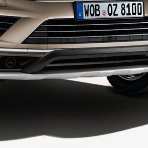 Защита днища передняя Volkswagen Touareg (7P), серебристая