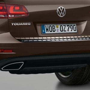 Защита днища задняя Volkswagen Touareg (7P), черная