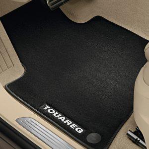 Коврики в салон Volkswagen Touareg (7P), текстильные Premium передние и задние, черные