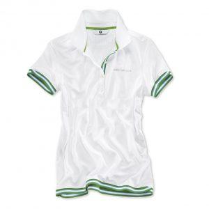 Женская рубашка-поло BMW Golfsport, White/Green