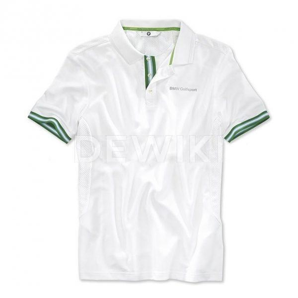 Мужская футболка BMW Golfsport, White/Green
