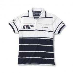 Мужская рубашка-поло BMW Yachting, White Blue