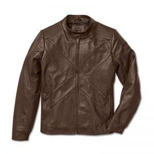 Мужская кожаная куртка BMW X, Brown