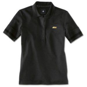 Женская рубашка-поло BMW M, Black/Gold