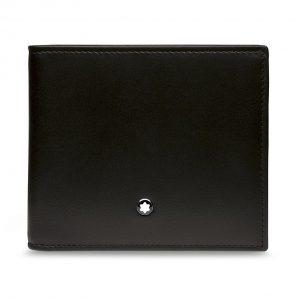 Кожаный кошелек без отделения для монет BMW от Montblanc, Black