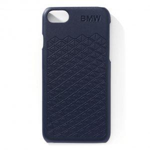 Кожаный чехол BMW Design для iPhone 7/8, Blue