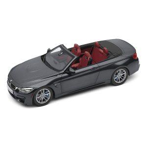 Миниатюрная модель BMW M4 F83 Convertible, Mineral Grey, масштаб 1:18