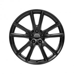 Алюминиевый литой диск R19 в 10-спицевом дизайне Audi, Glossy Black, 8,0J x 20 ET39