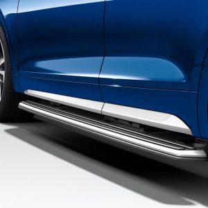 Боковая подножка из нержавеющей стали Audi Q5 / SQ5 (8Y), левая сторона