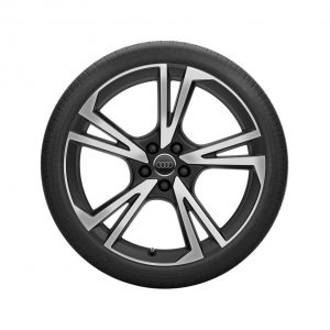Летнее колесо в сборе Audi Q5, Matt black / High-gloss255/45 R20 101W, 8J x 20 ET39
