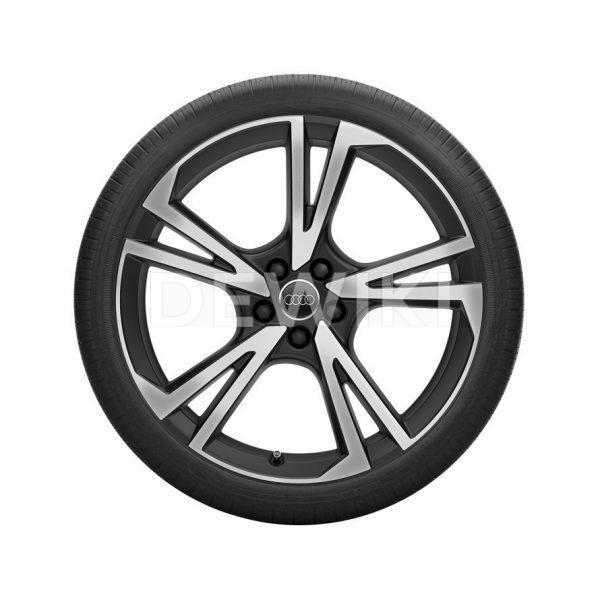 Летнее колесо в сборе Audi Q5, Matt black / High-gloss255/45 R20 101W, 8J x 20 ET39