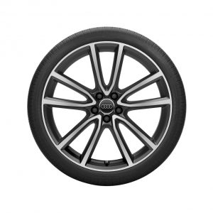 Летнее колесо в сборе Audi Q5, Matt black / High-gloss, 255/40 R21 102Y XL, 8,5J x 21 ET34