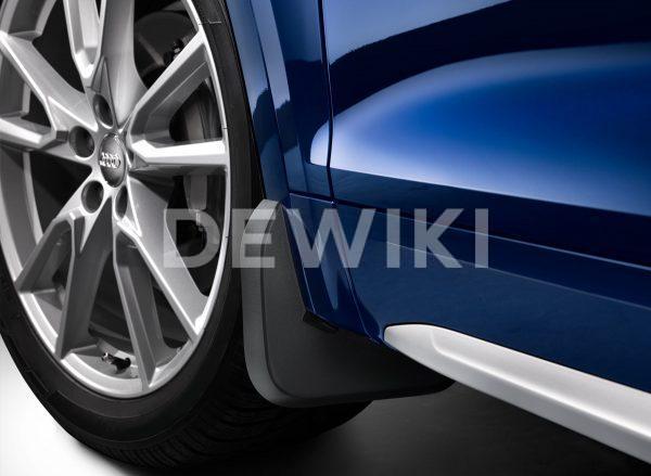 Брызговики передние Audi Q8, для автомобилей без пакета S-Line