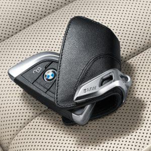 Чехол для ключа BMW со стальным зажимом, Black