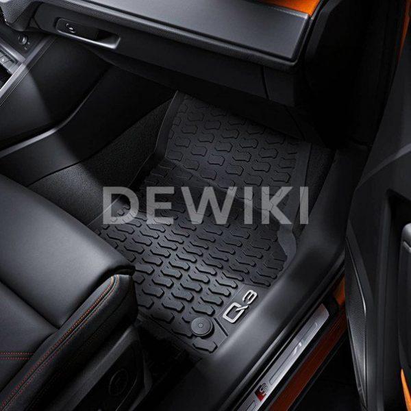 Резиновые передние коврики Audi Q3 (F3)
