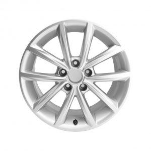 Алюминиевый литой диск R17 дизайне 5 V-образных спиц Audi, Brilliant Silver, 8,5J x 17 ET50