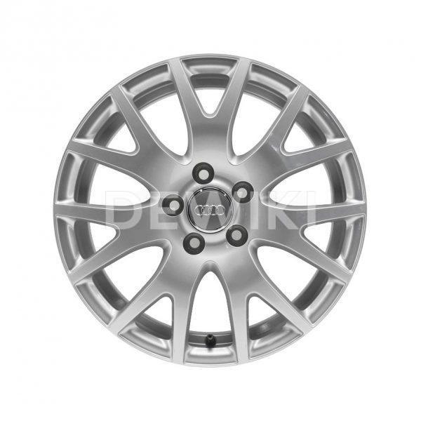 Алюминиевый литой диск R17 дизайн 7 Y-образных спиц Audi, Brilliant Silver, 7,0J x 17 ET47