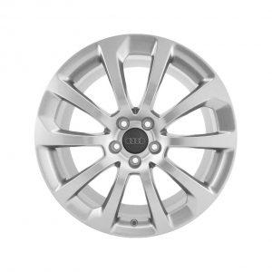 Алюминиевый литой диск R18 в 10-спицевом дизайне Audi, Royal Silver, 8J x 18 ET47