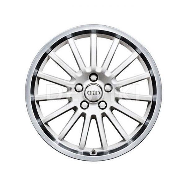 Алюминиевый литой диск R18 в 15-спицевом дизайне Audi, White Ibis, 8J x 18 ET47