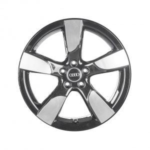 Алюминиевый литой диск R19 в 5-спицевом дизайне Audi, Glossy Anthracite, 8,5J x 19 ET43