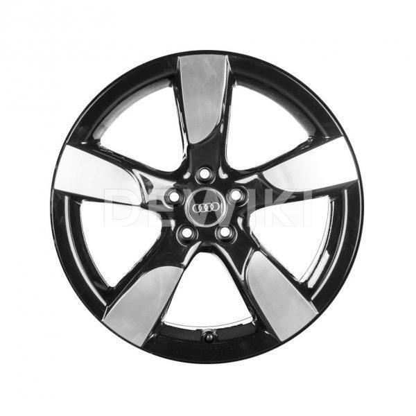 Алюминиевый литой диск R19 в 5-спицевом дизайне Audi, Glossy Black, 8,5J x 19 ET 43