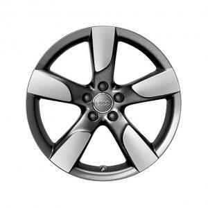 Алюминиевый литой диск R19 в 5-спицевом дизайне Audi, Anthracite / Polsihed, 8,5J x 19 ET43