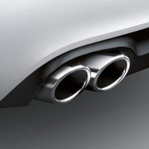 Спортивные насадки на выхлопную трубу Audi A4 / A5 / A6 / Q5, для автомобилей с левой двойной выхлопной трубой, для 4 цилиндров