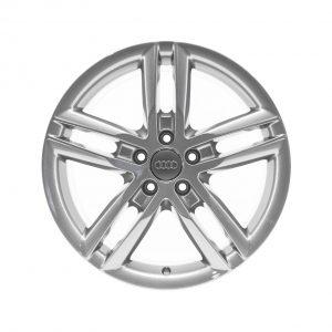 Алюминиевый литой диск R18 5 двойных спиц Audi, Brilliant Silver, 8,0J x 18 ET47