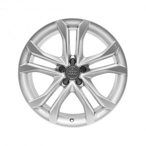 Алюминиевый литой диск R18 дизайн 5 Y-образных спиц Audi, Brilliant Silver, 8,0J x 18 ET47