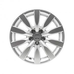 Алюминиевый литой диск R17 в 10-спицевом дизайне Audi, Silver, 8,0J x 17, ET47